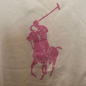 Ralph Lauren Pink Pony White t-shirt Slim Fit XL